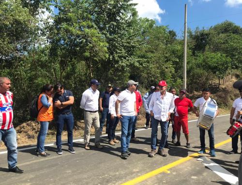 Inauguración de la via Usiacuri – Aguas Vivas – Piojó